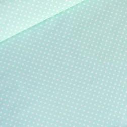 Drobná bílá srdíčka (6mm) na mátovém podkladě