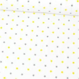 Žluté a šedé hvězdičky (1,5 cm) vzor 1402