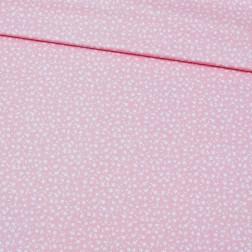 Drobné kvítky na pudrově růžovém podkladě vzor 1396