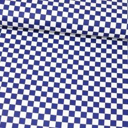 Šachovnice modrá vzor 1377