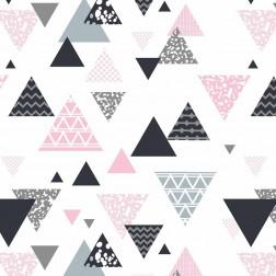 Pyramidy šedé a růžové vzor 614