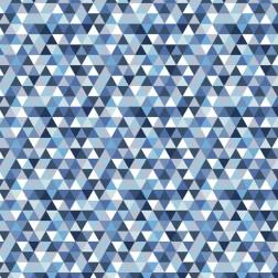 Trojúhelníky modré (2cm) vzor 1463
