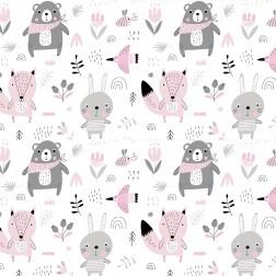 Medvídci s šátkem do růžova vzor 1466