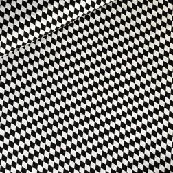 Bílo - černé kosočtverce vzor 146