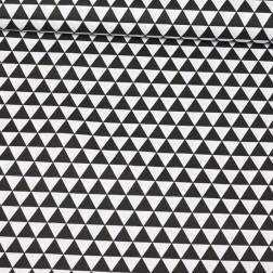 Bílé a černé trojúhelníky (2,5cm) vzor 173