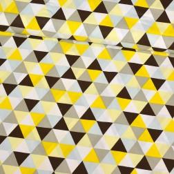 Trojúhelníky žluté, hnědé.....vzor 248