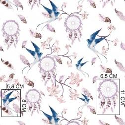 Lapače snů s modrými ptáčky vzor 403