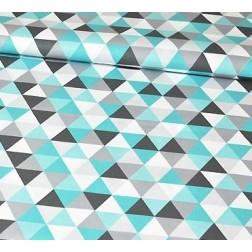 Trojúhelníky šedé, tyrkysové.....vzor 467
