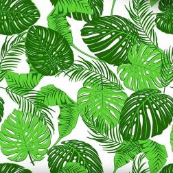 Zelené listy na bílém podkladě vzor 483