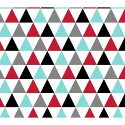 Trojúhelníky červené, modré, černé....vzor 535