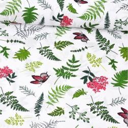 Motýli, jeřabiny a kapradí vzor 1478