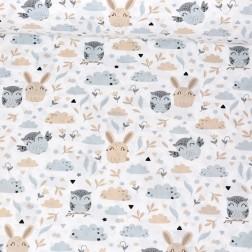 Sovy a zajíčci vzor 1543