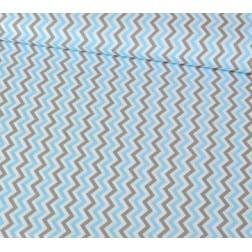 Cik - Cak modro - šedo - bílý vzor