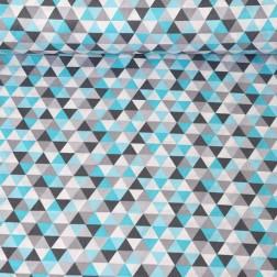 trojúhelníky (2,3 cm) tyrkysové, šedé vzor 1977