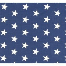 Bílé hvězdičky (2cm) na modrém podkladě vzor 149