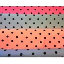 Teplákovina černé puntíky na mátovém 240g/m2
