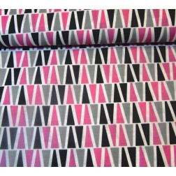 Růžové a šedé pyramidky vzor 9015