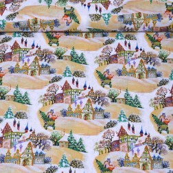 Vánoční krajina vzor 2106