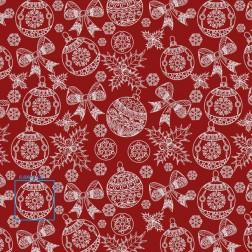 Vánoční ozdoby na červeném vzor 2105