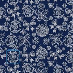 Vánoční ozdoby na modrém vzor 2104