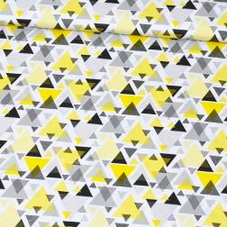 Trojúhelníky žluté, šedé a černé