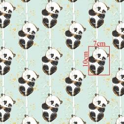Pandy na bambusu na mátovém (Kolekce GOLD) vzor 9107