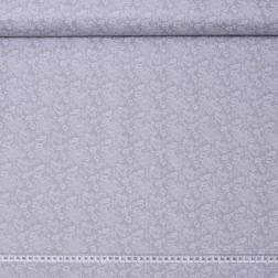 Drobné srdíčka na světle šedé, krajkový motiv vzor 2064
