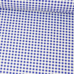Granátově modro-bílá kostka (10mm) vzor 1503