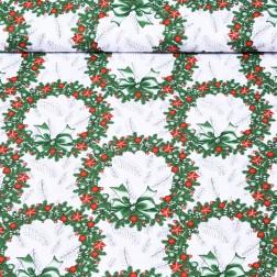Vánoční zelenočervené věnečky vzor 2121
