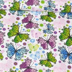 Motýlci z vitráže vzor 509