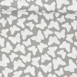 Bílí motýlci na šedém podkladě vzor 123