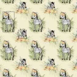 Zebry na krémovém podkladu vzor 1914