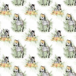 Zebry na bílém podkladu vzor 904