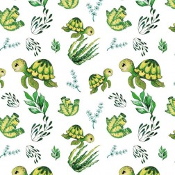 Želvičky na bílém vzor 1770