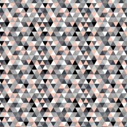 Trojúhelníky šedé, černé, lososové (2cm) vzor 1830