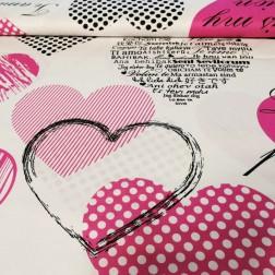 Láskyplné srdce růžové na bílém podkladě vzor 333