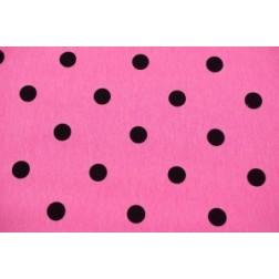 Černé puntíky na růžovém. 240g/m2