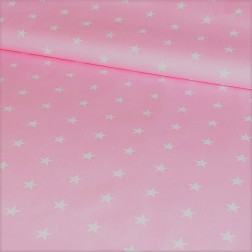 Bílé hvězdičky (2cm) na růžové Z027