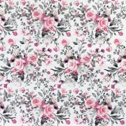 Růžovo-šedé růžičky VZOR V1875