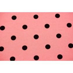 Černé puntíky na lososovém. 240g/m2