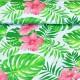 Havajské květy mezi listy vzor 953