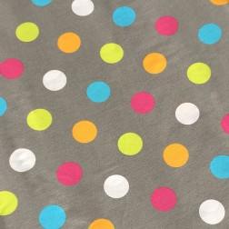 Barevné puntíky na tmavě šedém podkladě