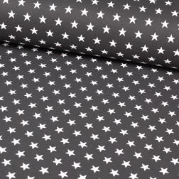 Bílé hvězdičky (3cm) na černém podkladě