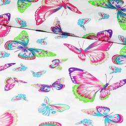 Růžovo-zelení motýli