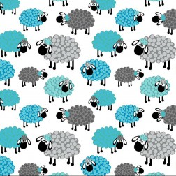 Šedé a tyrkysové ovečky